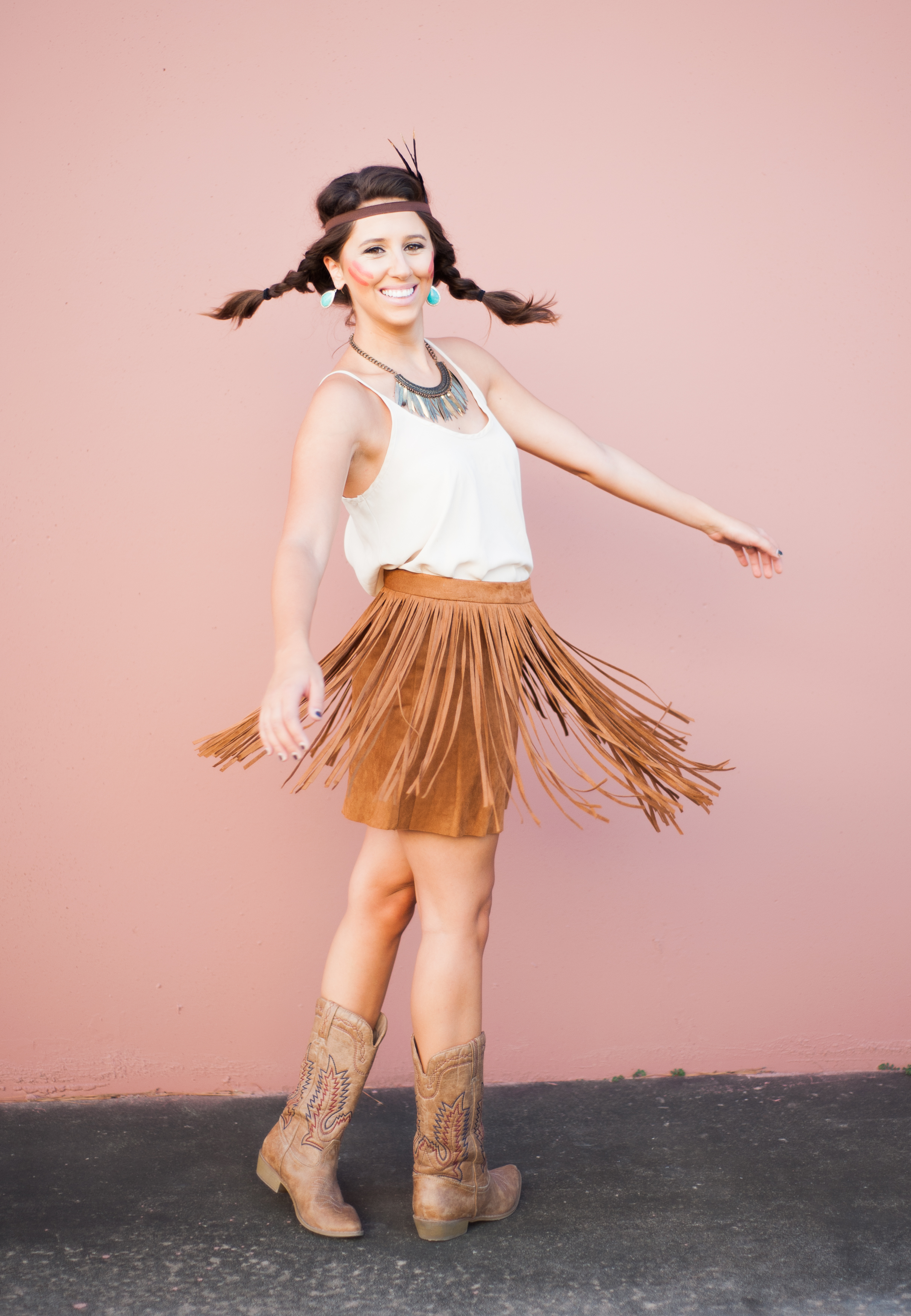 Pocahontas, Halloween, diy, costume, fallblog, fashion blogger, costume blog, dressupbuttercup