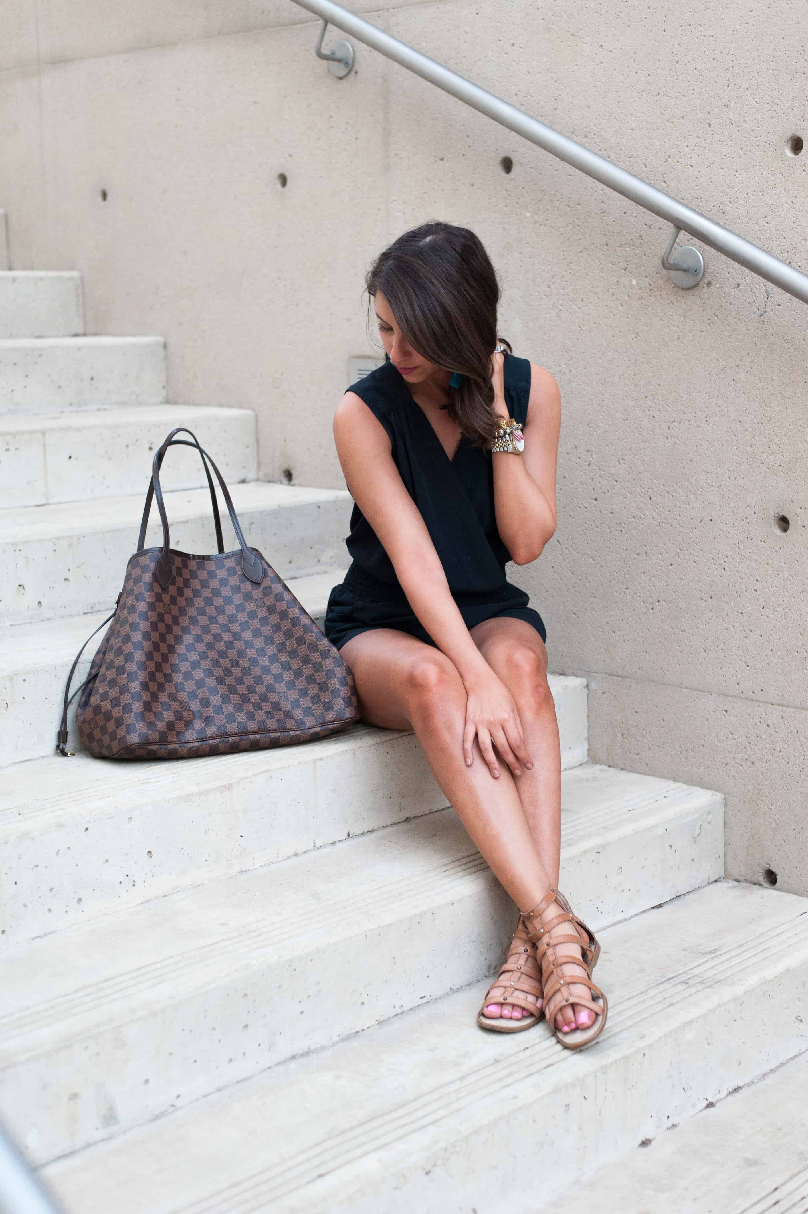 Dress Up Buttercup // A Houston-based fashion and inspiration blog developed to daily inspire your own personal style by Dede Raad | Black Romper for a Black Day