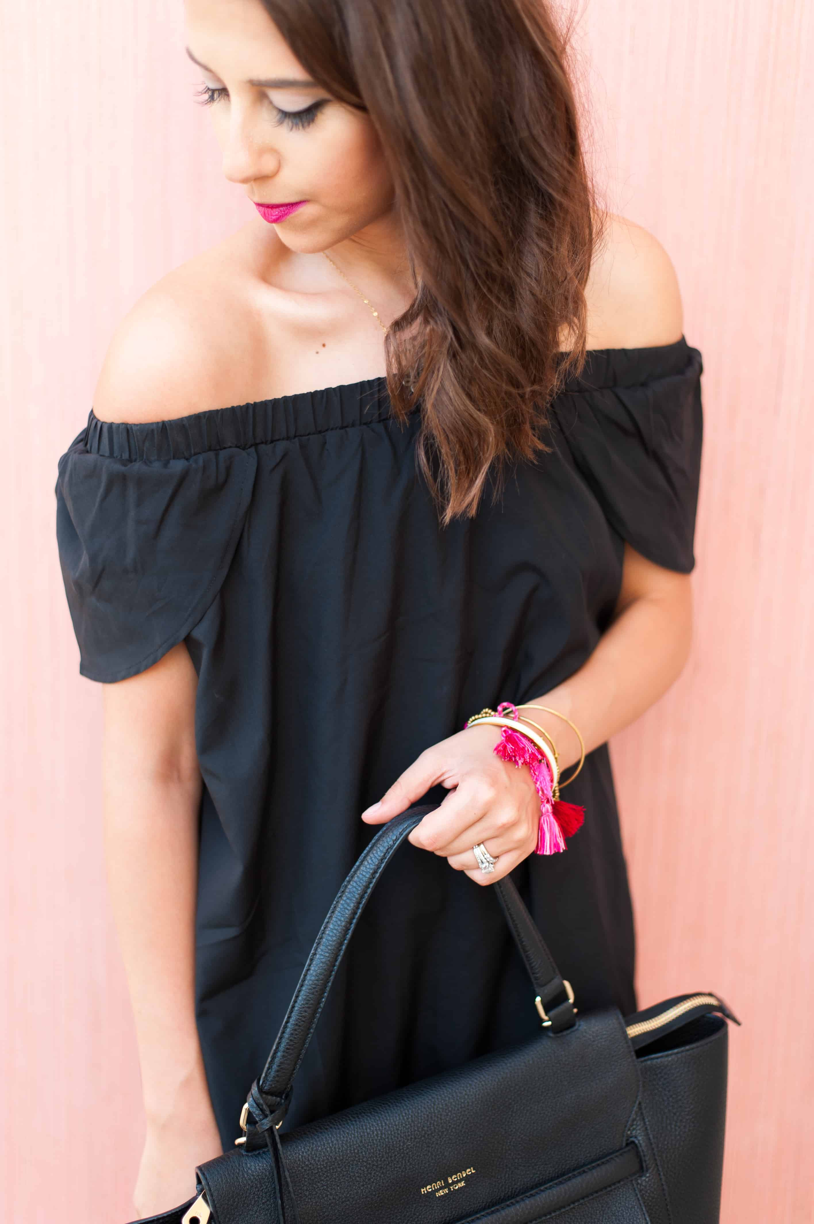 Dress Up Buttercup // A Houston-based fashion and inspiration blog developed to daily inspire your own personal style by Dede Raad | Black Dress In the Summer