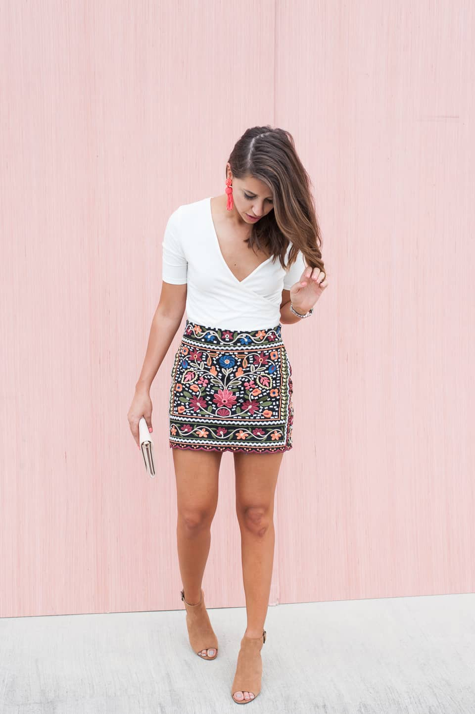 Dress Up Buttercup // A Houston-based fashion travel blog developed to daily inspire your own personal style by Dede Raad | EMBROIDERED SKIRT