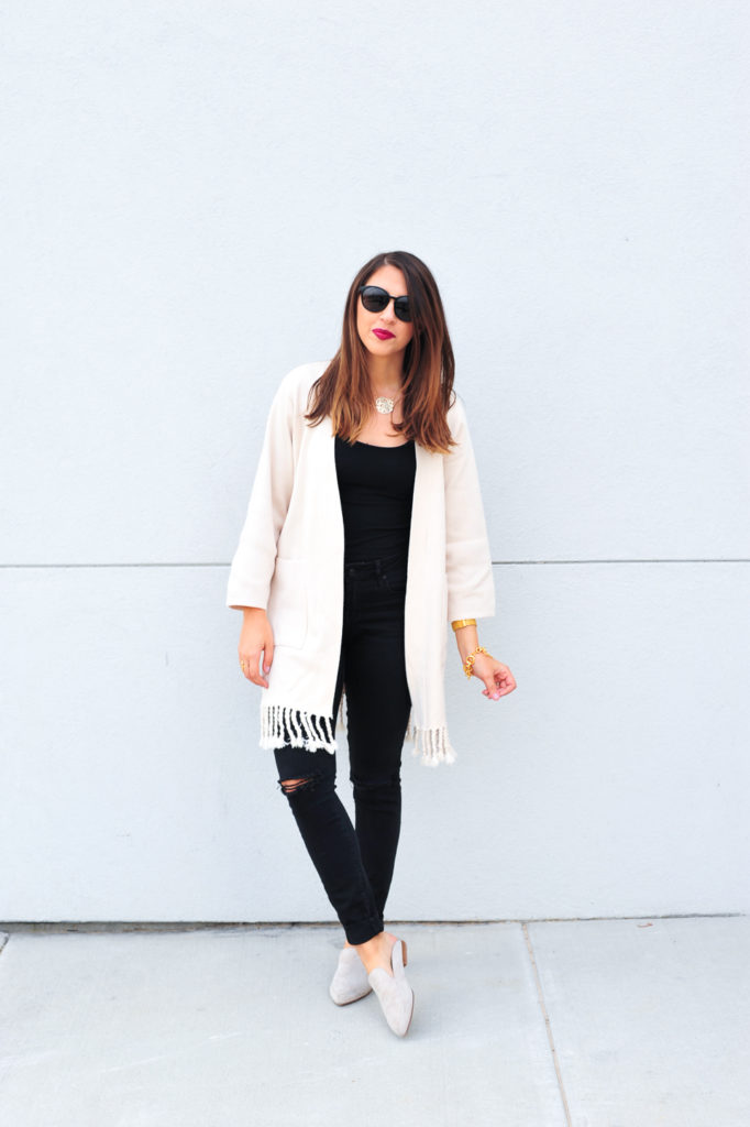 Dress Up Buttercup // A Houston-based fashion travel blog developed to daily inspire your own personal style by Dede Raad | Tassel Trimmed Cardigan
