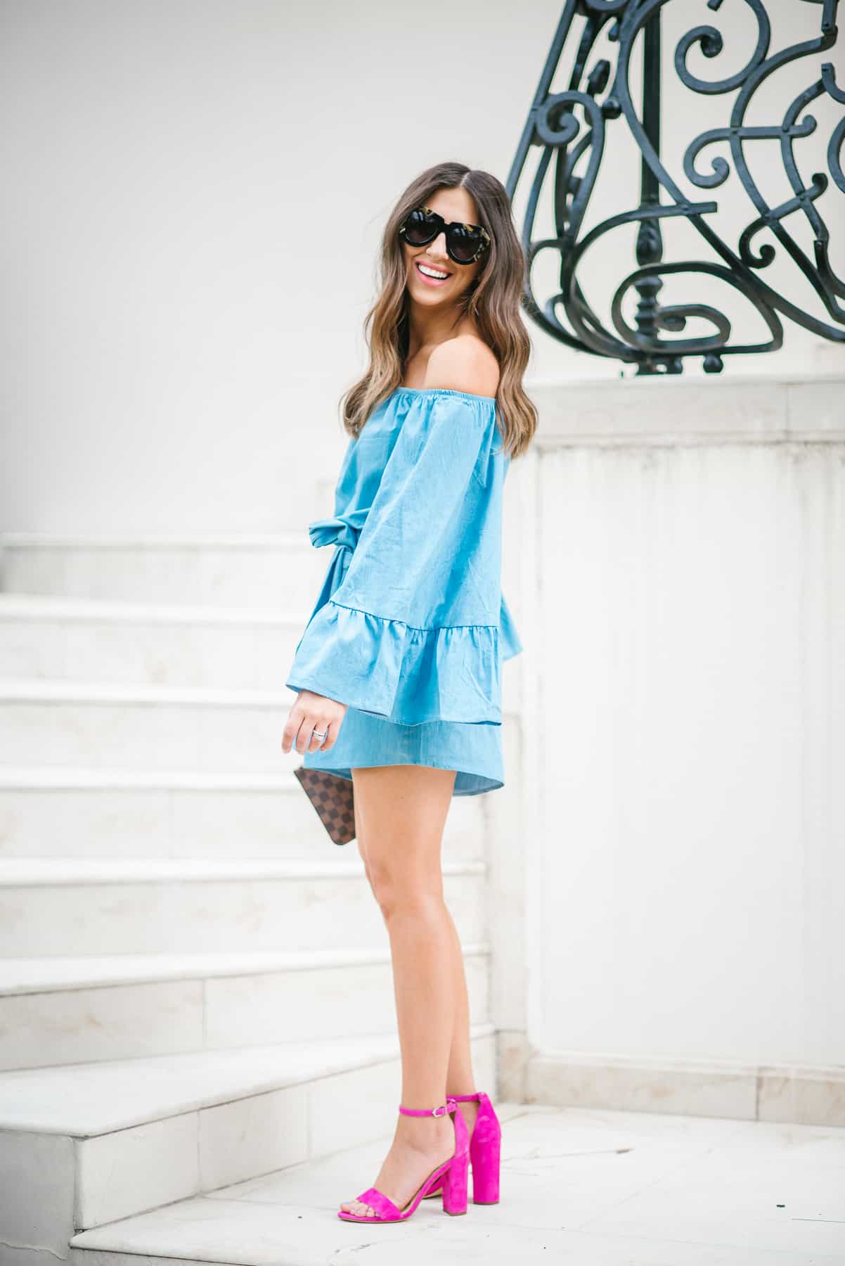 Dress Up Buttercup // A Houston-based fashion travel blog developed to daily inspire your own personal style by Dede Raad   Chambray Romper