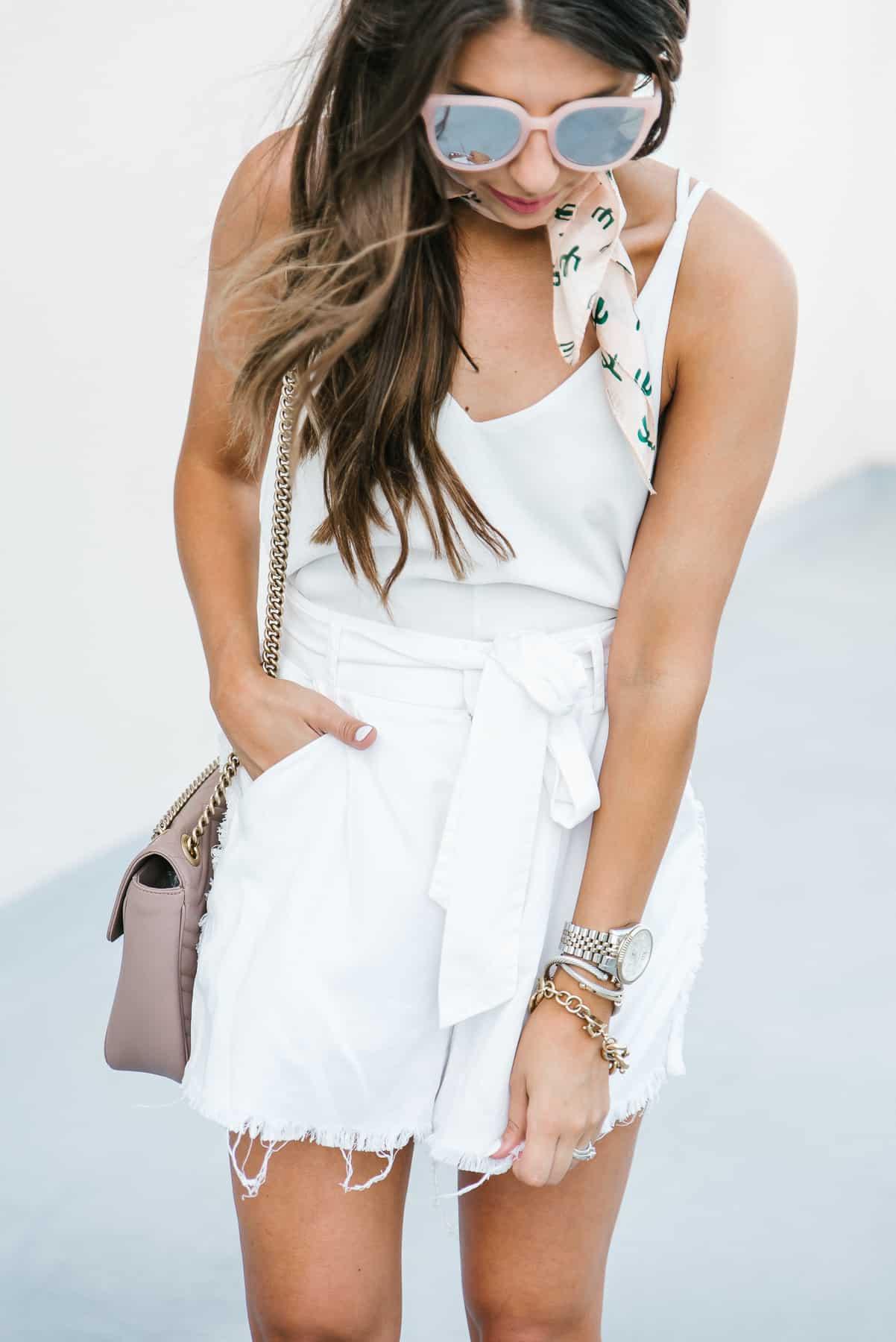 Dress Up ButterCup, Fashion Blogger, Houston Blogger, Dede Raad, Neck Tie, Cactus, Summer