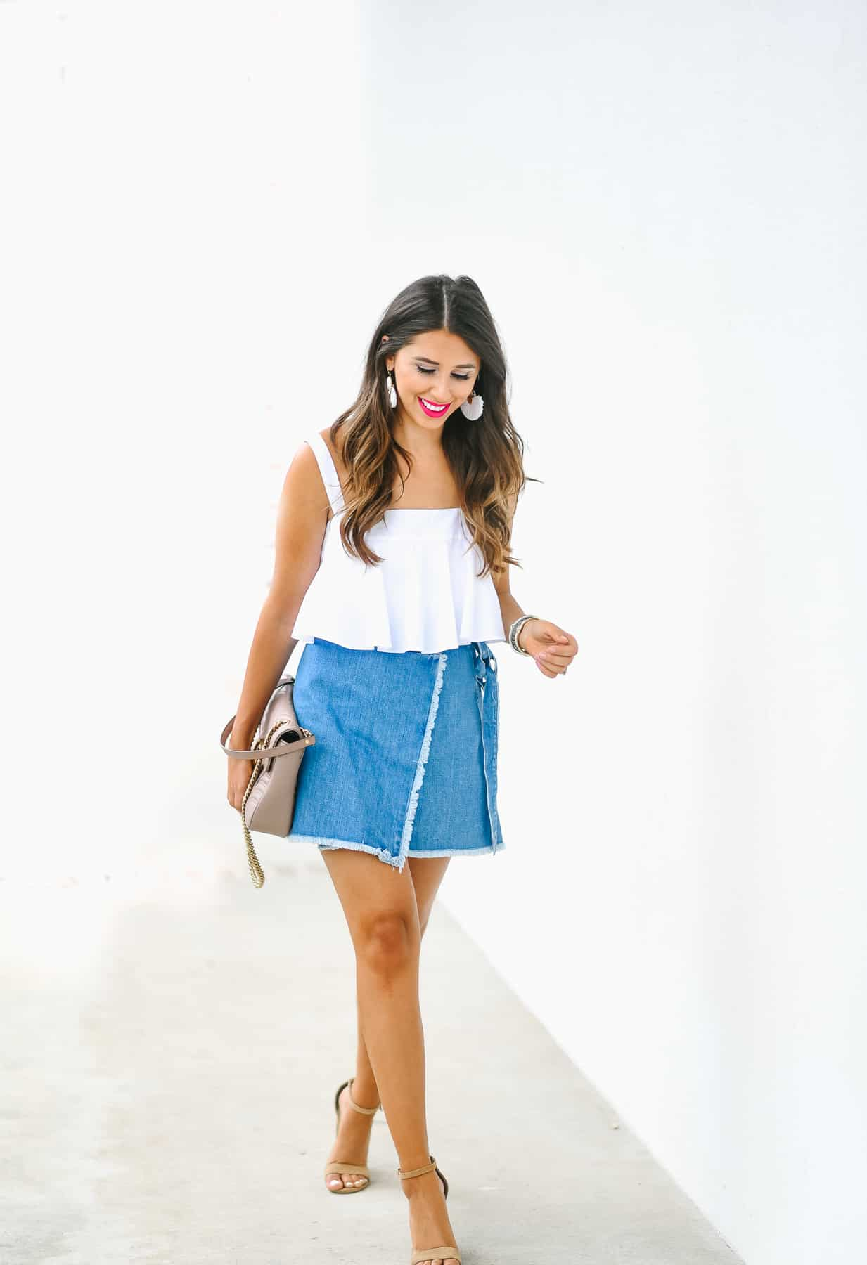 Dress Up Buttercup Fashion Blogger A Spin On Denim Skirts