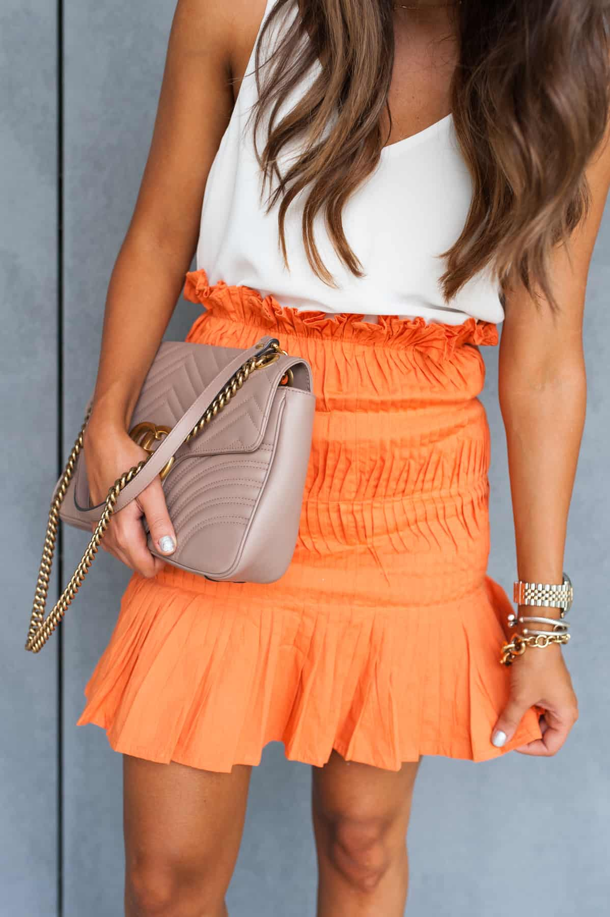 dress up buttercup, dede raad, houston blogger, fashion blogger, shirred ruffle skirt