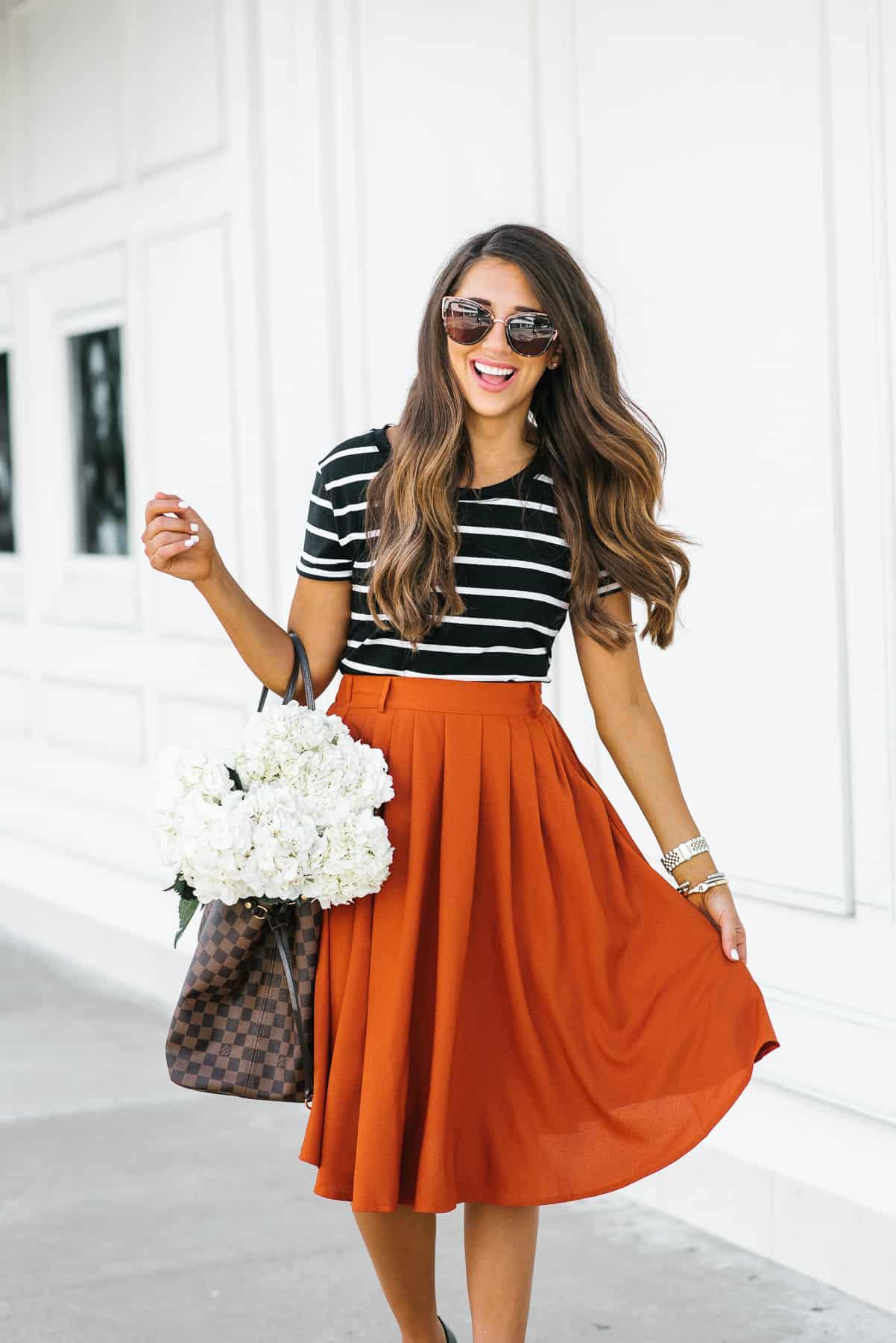Mod Cloth Skirt, Houston, Texas, summer skirt, houston fashion, fashion blogger, Dress up Buttercup