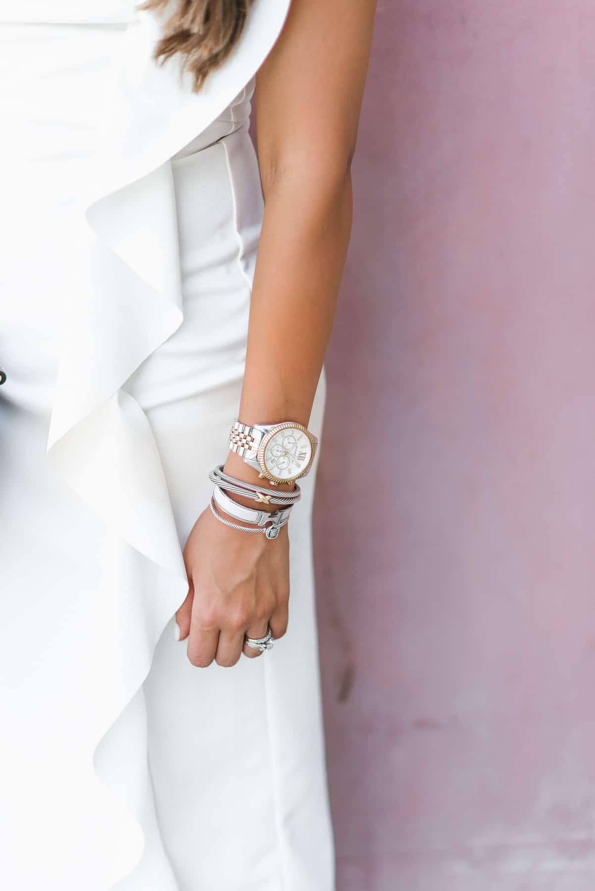 White ruffle midi dress, top shop, Nordstrom, dress up buttercup, dede raad, houston blogger, fashion blogger