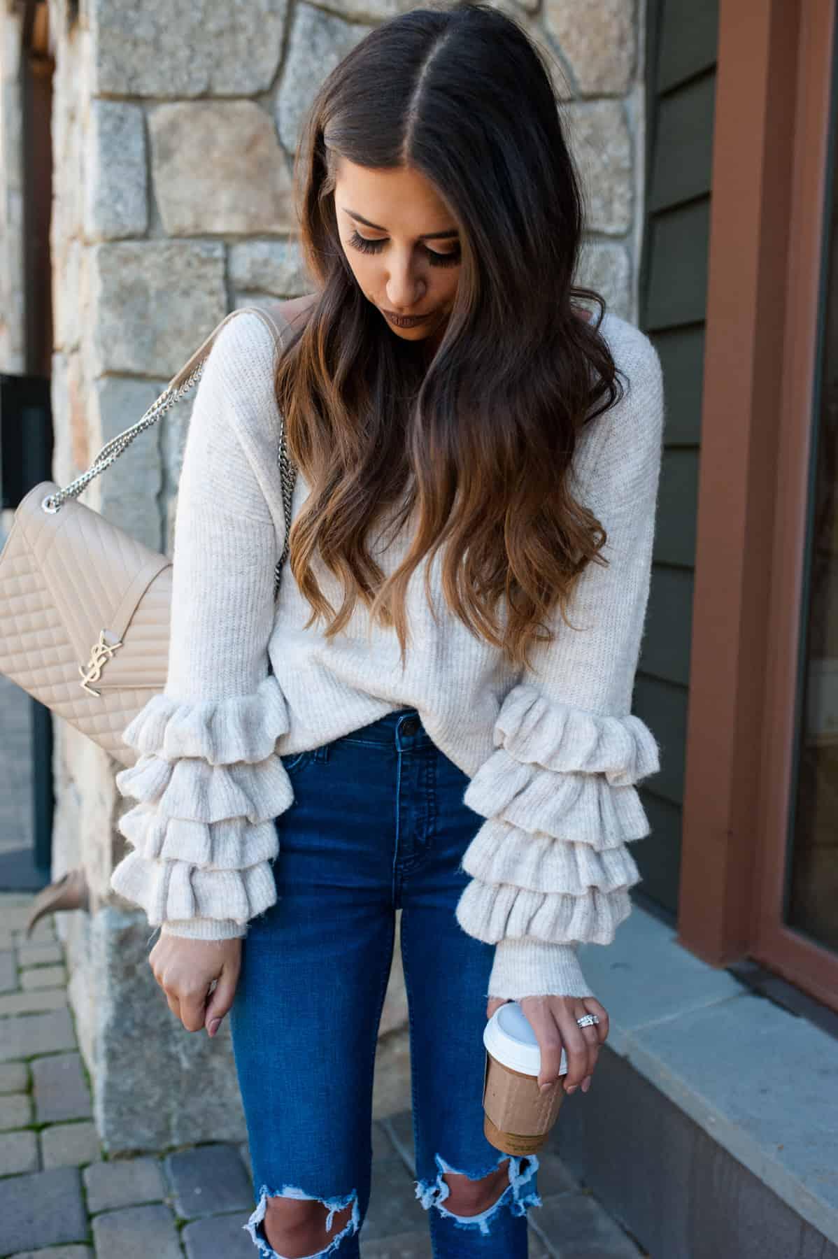 Ruffle Long Sleeve Sweater | Dress Up Buttercup
